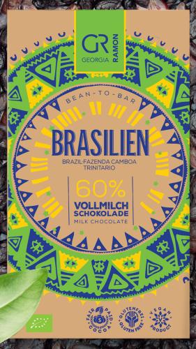 Bio-Brasilien (Fazenda Camboa) 60 % Vollmilch Schokolade
