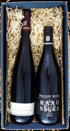 Weingeschenk Philipp Kuhn Mano Negra Clemens Busch Riesling vom roten Schiefer