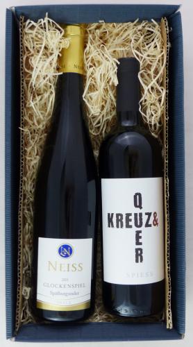 Weingeschenk Rotwein Neiss Glockenspiel Spätburgunder Spiess Kreuz & Quer