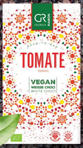 Bio-Tomate vegan - Weisse Schokolade