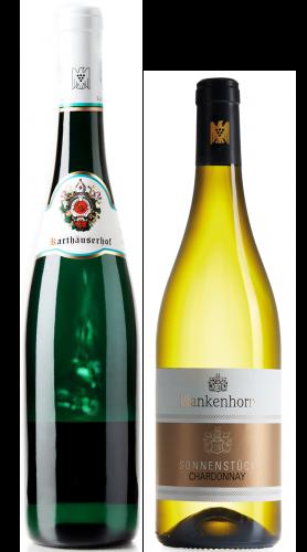 Weingeschenk Weißwein Karthäuserhof Schieferkristall Riesling und Blankenhorn Chardonnay GG